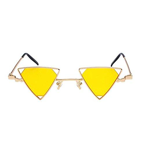 Polarisées Miroité Triangle Métallique Meijunter Uv400 Eyewear De Jaune Soleil Sunglasses Lunettes Rétro Unisexe 0qwUp