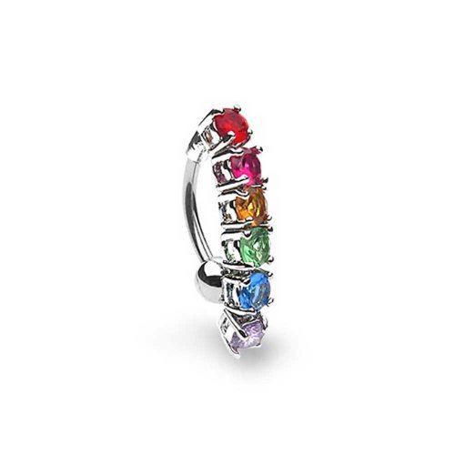 Bling Jewelry Gay Pride Rainbow CZ Top D - Pride Rainbow Button Shopping Results