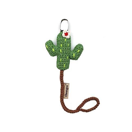 Cheengoo Hand Crocheted Pacifier Clip - Cactus