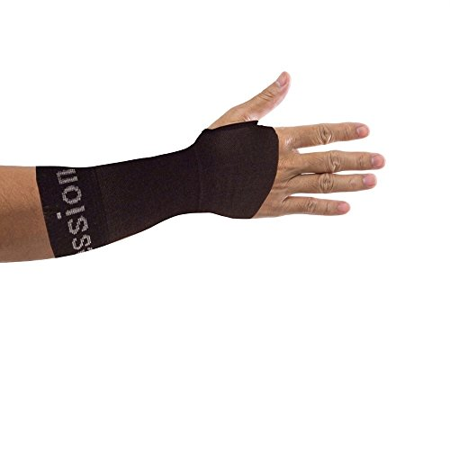 Copper Compression Recovery Wrist Sleeve, GUARANTEED Highest Copper Content. Support / Brace Helps With Symptoms Of Carpal Tunnel, RSI, Arthritis, Tendonitis, Sprains! (MEDIUM - Single)