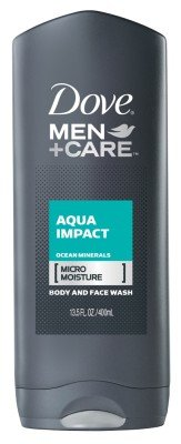 Dove Body & Face Wash 13.5oz Mens Aqua Impact