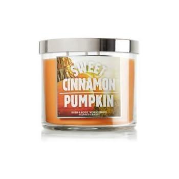 BATH & BODY WORKS Sweet Cinnamon Pumpkin scented, 3 wicked, 14.5oz candle