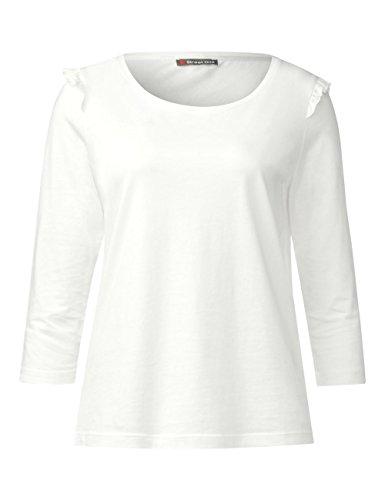 One Donna Maniche Street Maglietta White Beige A off 10108 Lunghe wx6HXdTX