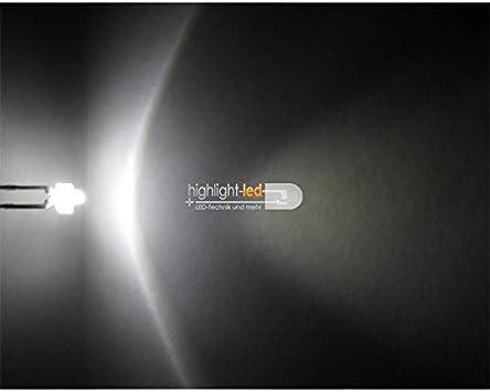 World Trading Net 20 Led 1 8mm Wasserklar Pur Weiß Typ Elektronik