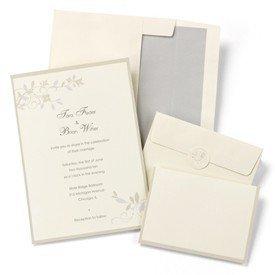 Hortense B. Hewitt Wedding Accessories Taupe Tonal Vines Invitation Kit