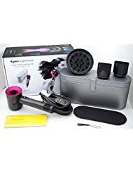 Dyson Supersonic Hair Dryer (Iron/Fuchsia) With Platinum Metallic Black Travel Case Limited Edition by Dyson Supersonic