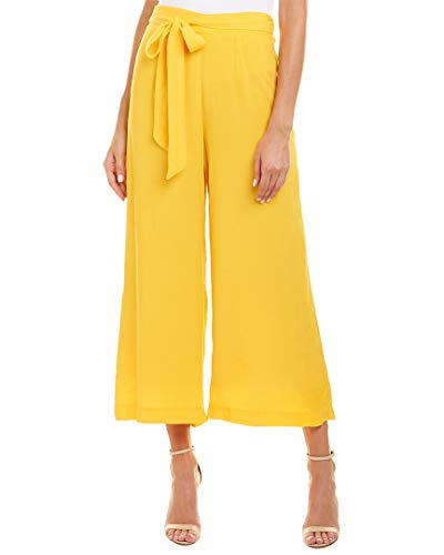 Paper Crown Womens Palazzo Crop Pant, Xs, Yellow