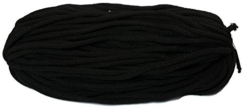 Corda di cotone, 10meter, 6mm di spessore con anima, Nero JAJASIO