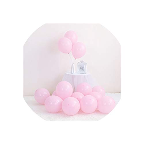 Balloon 100Pc/Lot 10 Inch Macaron Latex Balloons Wedding Birthday Decoration Baby Shower Girl Birthday Party Helium Balloon,100Pcs Pink,100Pcs 10Inch]()