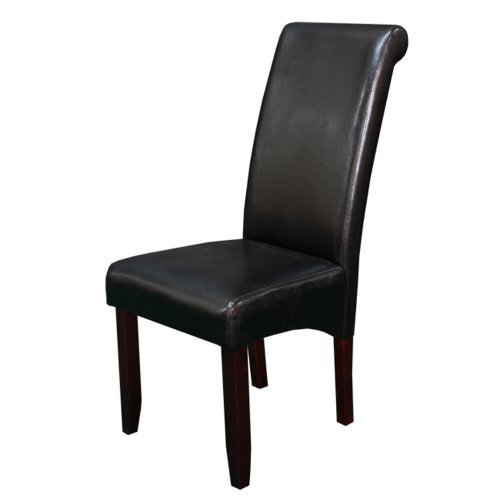 Faux Leather Contemporary Chair - 4