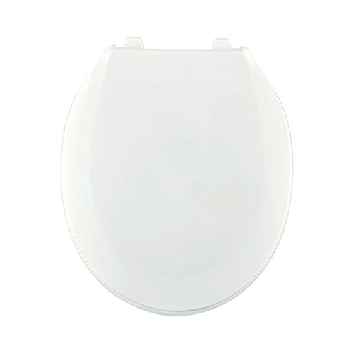 Centoco 440TM-301 Plastic Round Toilet Seat with Closed Front, Crane White by Centoco (Image #1)