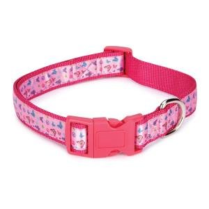 East Side Collection Nylon Butterfly Garden Dog Collar, 10-16-Inch, Pink, My Pet Supplies