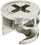 Paquete 10/Unidades Conector caja 12/mm de zinc fundido a presi/ón sin borde de abdeck Pihami/® exc/éntrico