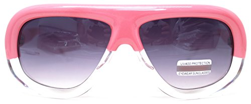 Womens Pink Sunglasses Fashion Vintage Eyeglasses Large Oversized Bold Thick Frame (PINK 123, - Rim Thick Aviators