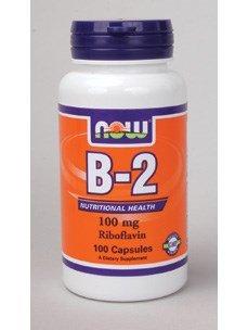 NOW Foods Vitamin B-2 100 mg Caps, 2 pk