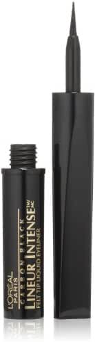 L'Oreal Paris Lineur Intense Felt Tip Liquid Eyeliner, Carbon Black, 0.05 Ounces