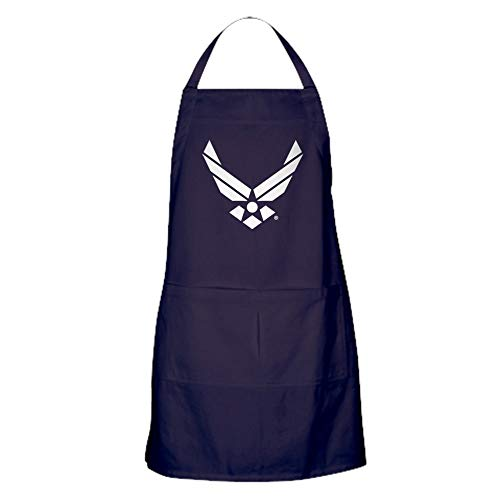 CafePress USAF U.S. Air Force Logo Kitchen Apron with Pockets, Grilling Apron, Baking Apron (Air Force Bbq Apron)