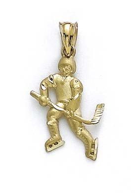Pendentif Or 14carats Hockey Player