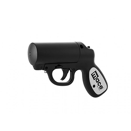 (Mace Brand Self Defense Police Strength Pepper Spray Gun with Strobe LED)