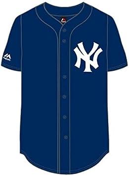 Majestic New York NY Yankees MLB Camiseta Jersey Béisbol Marina, azul, xx-large: Amazon.es: Deportes y aire libre