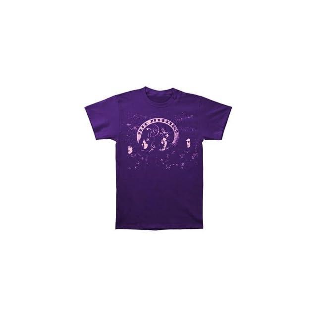 Led Zeppelin Mens Astronauts T shirt Purple
