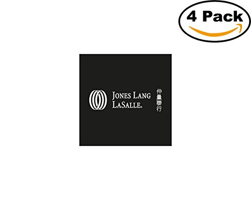 Jones Lang Lasalle 4 Stickers 4X4 Inches Car Bumper Window Sticker Decal