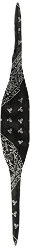Schampa Old School Bandanna (Black Ground White Paisley, One Size)