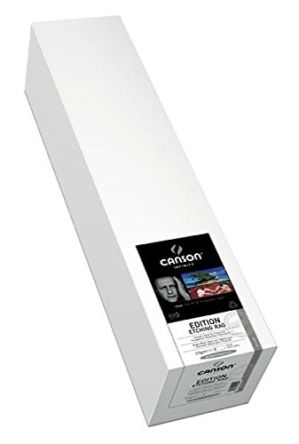 Canson Infinity Edition Etching Rag Fine Art Paper Roll, Acid Free for Printmaking, 17 Inch x 50 Foot Roll, Bright White