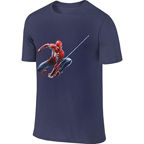 Syins Man Personalized Fashion Tees Spider Man Peter Parker T-Shirt Navy