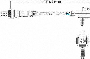 Walker Products 250-24018 4-Wire Oxygen Sensor