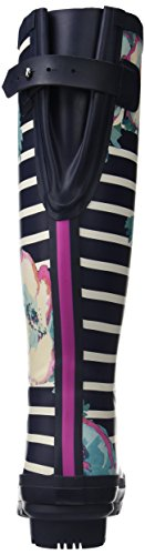 Print Rain Women's Navy Boot Joules Welly Stripe Poppy pqTxWvSwv