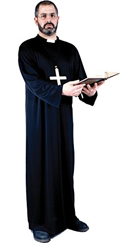 The Priest Movie Costume (UHC Men's Priest Outfit Religious Theme Fancy Dress Adult Plus Size Costume, Plus (48-52))