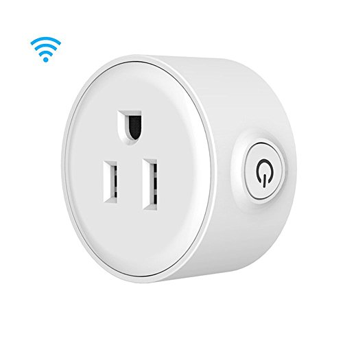 XIHF Mini WiFi Smart Plug Remote APP Control Intelligent Socket Home Timer Switch Power Outlet Function Switch Smart US Plug Works With Amazon Alexa Echo And Google Assistant(1 Pack)