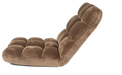 BirdRock Home Adjustable 14 Position Memory Foam Floor Chair U0026 Gaming Chair  (Brown)   Smarttotalrecall