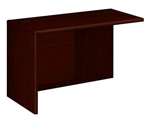 - HON 10716LNN 10700 Series 48 by 24 by 29-1/2-Inch L Workstation Return with 3/4 Pedestal, Left, Mahogany
