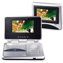 Durabrand Portable DVD Player with Two 6.2