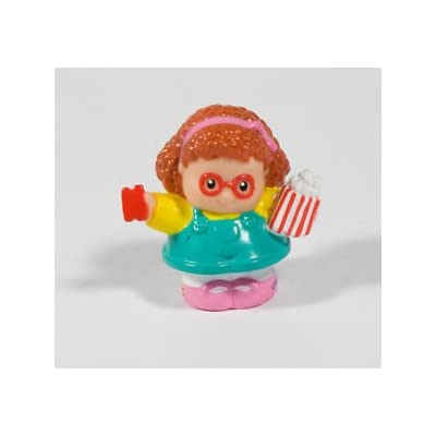 Little People Fisher Price Circus, Amusement Park, Carnival Replacement Figure Maggie Holding Popcorn & Ride Ticket OOP: Toys & Games