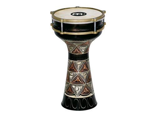 Meinl Percussion Darbuka with Hand Engraved Copper Shell - MADE IN TURKEY - 7 1/2'' Tunable Rawhide Head, 2-YEAR WARRANTY (HE-204)