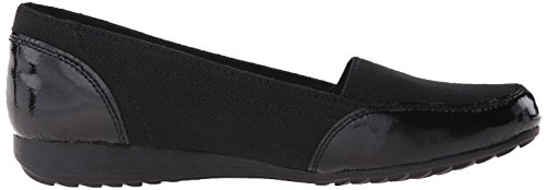 Skechers Mujeres De Roma Slip-On Loafer Black Canvas