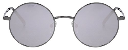 PERVERSE sunglasses John-02-Smith-Silver-0046 John Slim Round Sunglasses, Smith Silver