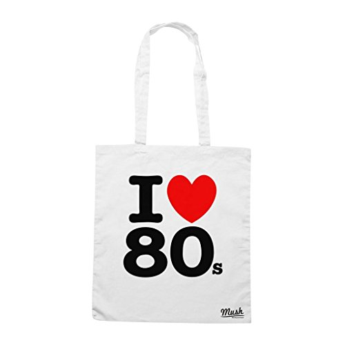 Borsa I Love 80S - Bianca - Famosi by Mush Dress Your Style