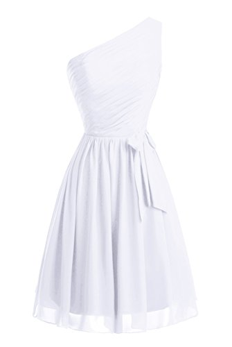 Vestito Promenade Damigella Donne Partito Bianco Vestito D'onore Del Delle Da Ritorno Della Dasior A Casa Del Del Breve 5qxAHa
