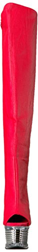 Pleaser slv Chrome Faux Leather 3019 Red Illusion wvx8qrwz