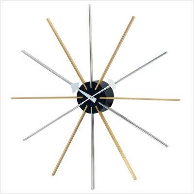 Telechron Asterisk Clock, Silver/Gold