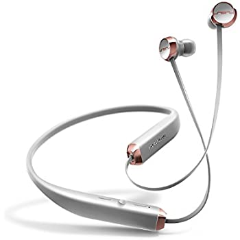 SOL REPUBLIC 1140-04 Shadow Wireless In-Ear Headphones with noise isolation and extended 8 hour battery, Grey/Rose Gold