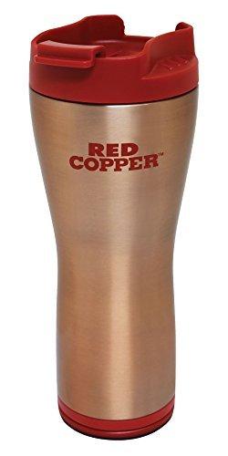 16oz Red Copper Ceramic Lining Coffee Mug Travel Tea Hot