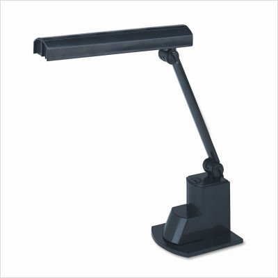 - Ledu L9014 Fluorescent desk lamp with folding shade, 15-1/2 high, black