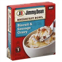 Frozen Sausage - Jimmy Dean Biscuit and Sausage Gravy Breakfast Bowl, 9 Ounce - 8 per case.