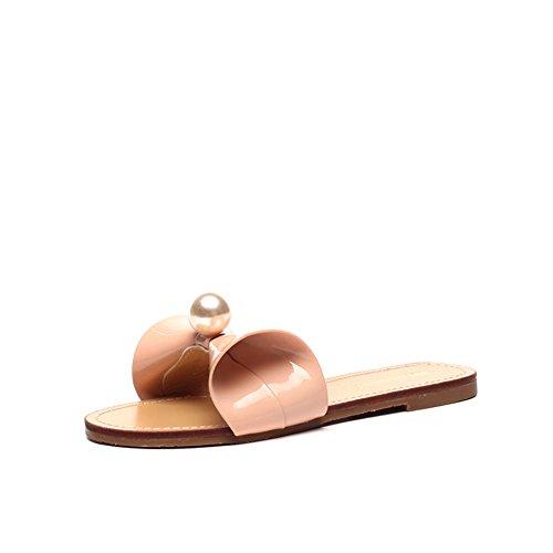 El arco de la manera del verano afuera las zapatillas del desgaste/Pantuflas de fondo plano D