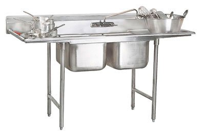 """Advance Tabco 44"""" Regaline Two Compartment Sink Model T9-2-36-18RL"""
